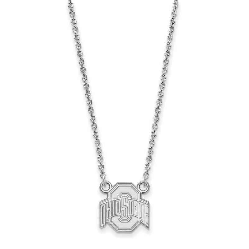 Ohio state sterling silver necklace pendant necklaces ss015osu 18 logoart ohio state small neck white aloadofball Gallery