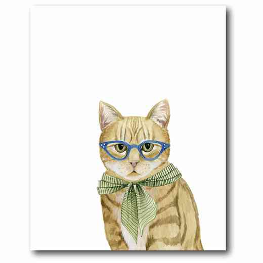 WEB-DC103: Cat With Green Tie Canvas 16x20