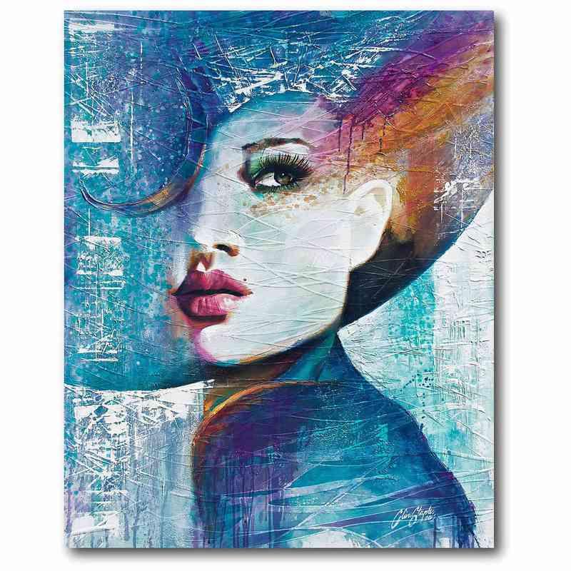 WEB MV187: Girl In Blue Canvas 16x20