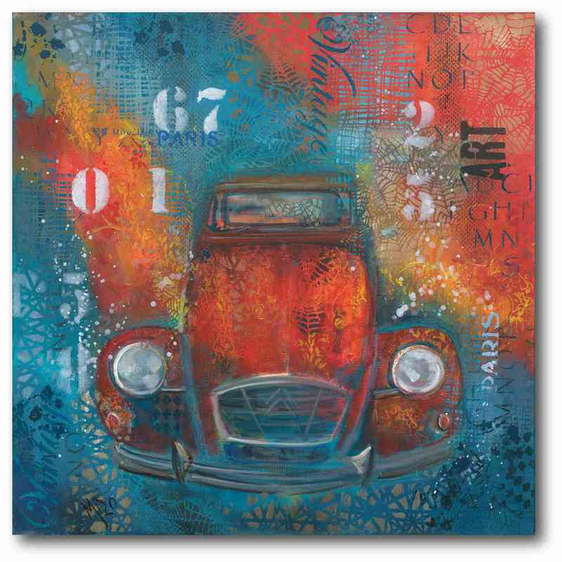 Red Abstract Beetle 16\