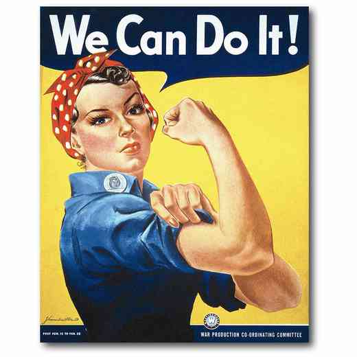 WEB-P219: Rosie the Riveter Canvas 16x20