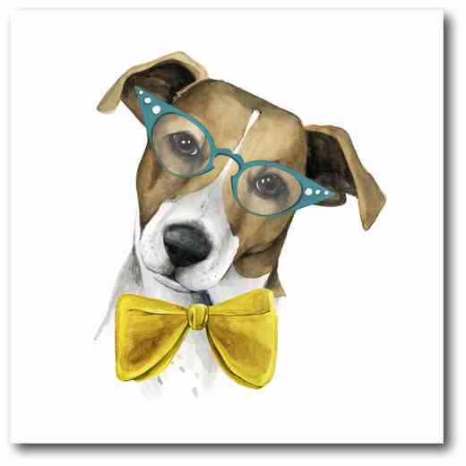 WEB-DC105: Puppy With Yellow Bowtie Canvas 16x16