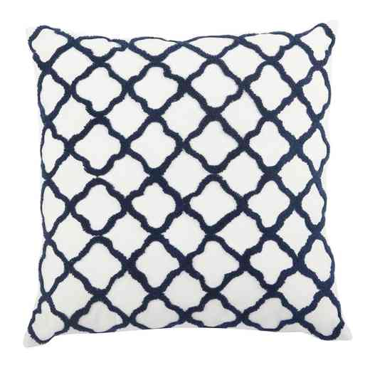 T38613: Blue Moorish Embroidered Pillow20x20