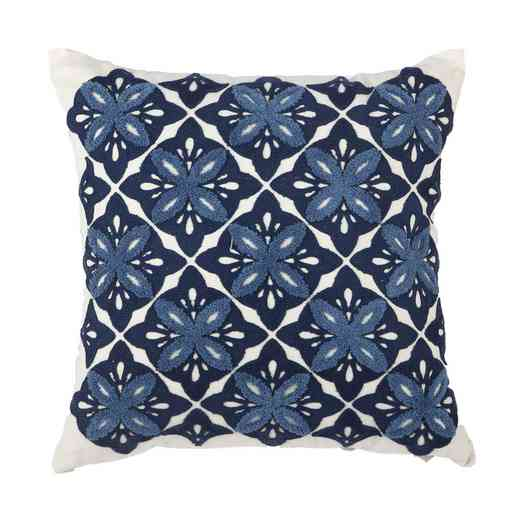 TAV38477: Navy Embroidered Pillow18x18