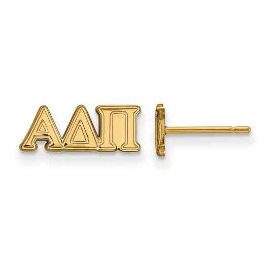 GP005ADP: 925 YGFP Logoart ADP Post Earrings