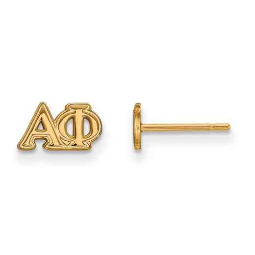 GP005APH: 925 YGFP Logoart APH Post Earrings