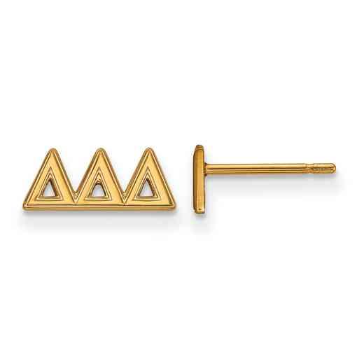 GP005DDD: 925 YGFP Logoart DDD Post Earrings