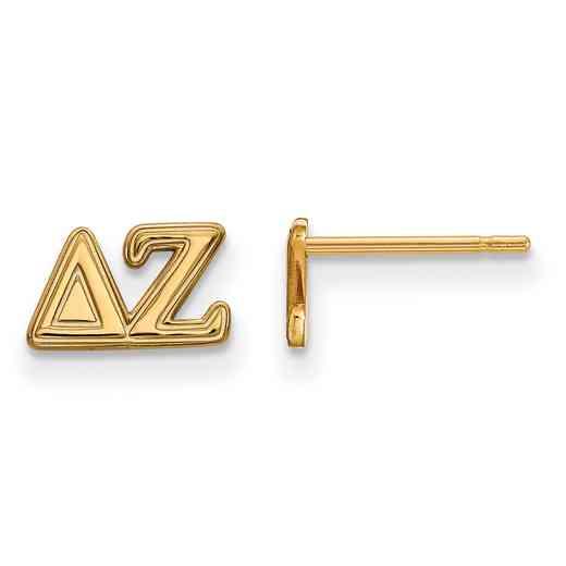 GP005DZ: 925 YGFP Logoart DZ Post Earrings