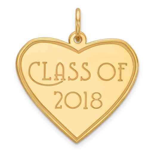 YC1272: 14K CLASS OF 2018 CHARM