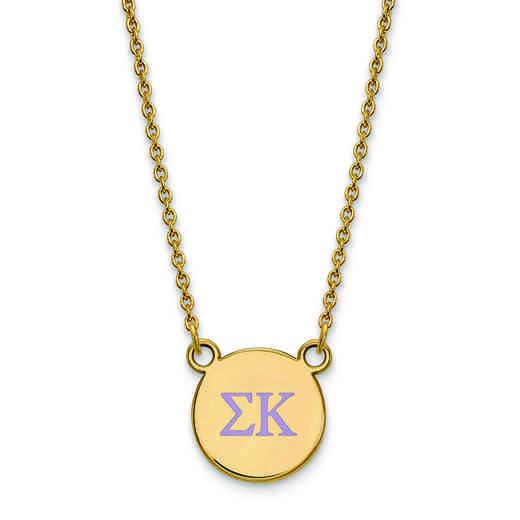 GP027SKP-18: 925 YGFP Sigma Kappa Omega Sml Enl Neck