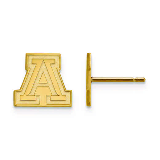 GP007UAZ: 925 YGFP LogoArt University of Arizona Post Ears