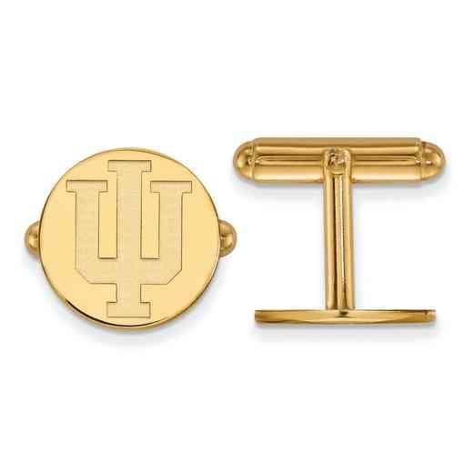 GP012IU: LogoArt NCAA Cufflinks - Indiana - Yellow