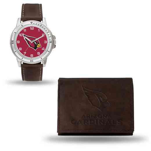 GC4846: Men's NFL Watch/Wallet Set - Arizona Cardinals - Brown