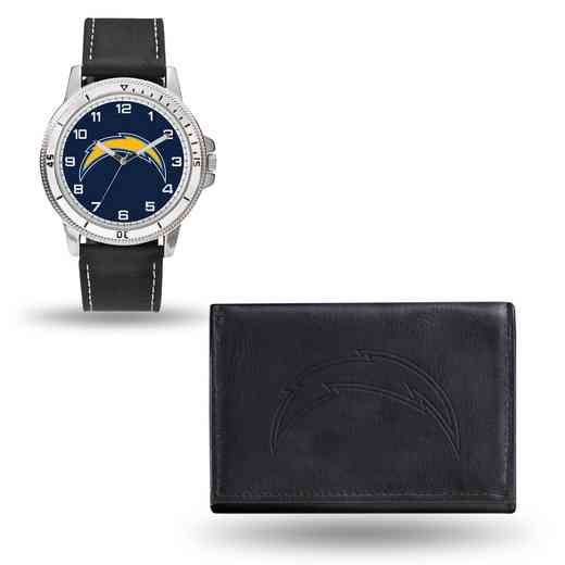 GC4839: Men's NFL Watch/Wallet Set - San Diego Chargers - Black