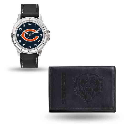 GC4819: Men's NFL Watch/Wallet Set - Chicago Bears - Black