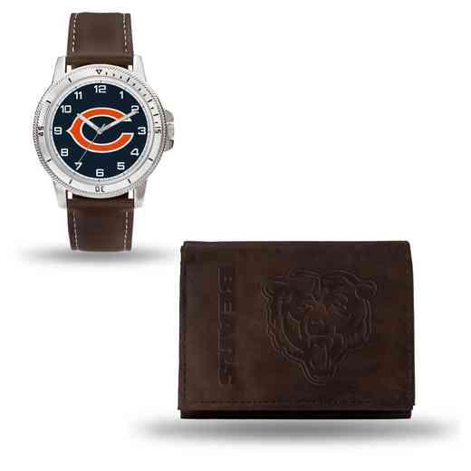 GC4851: Men's NFL Watch/Wallet Set - Chicago Bears - Brown