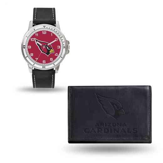 GC4814: Men's NFL Watch/Wallet Set - Arizona Cardinals - Black