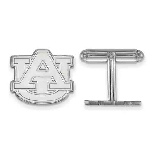 SS012AU: LogoArt NCAA Cufflinks - Auburn - White