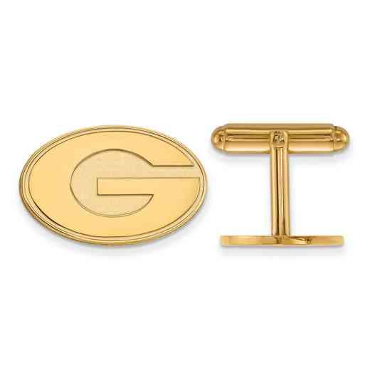 GP012UGA: LogoArt NCAA Cufflinks - Georgia - Yellow