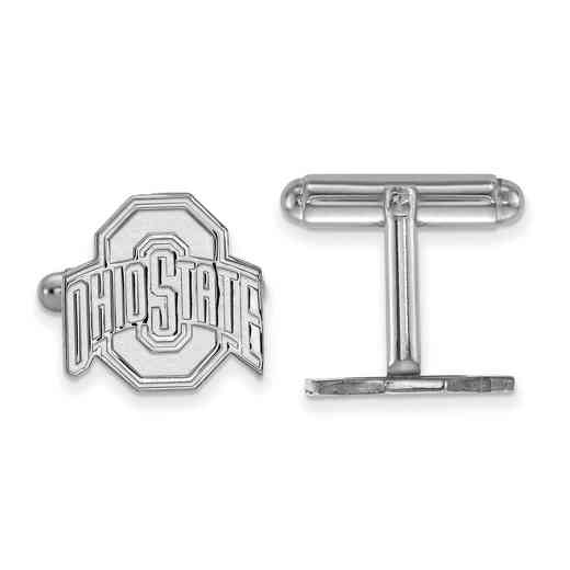 SS012OSU: LogoArt NCAA Cufflinks - Ohio State - White