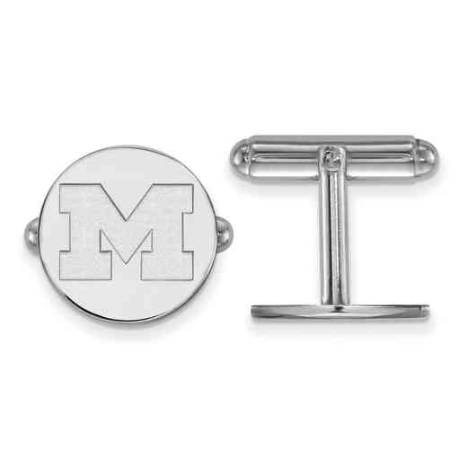 SS011UM: LogoArt NCAA Cufflinks - Michigan - White