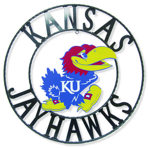 "KUWRI18: Kansas 18""  Round Metal Art"
