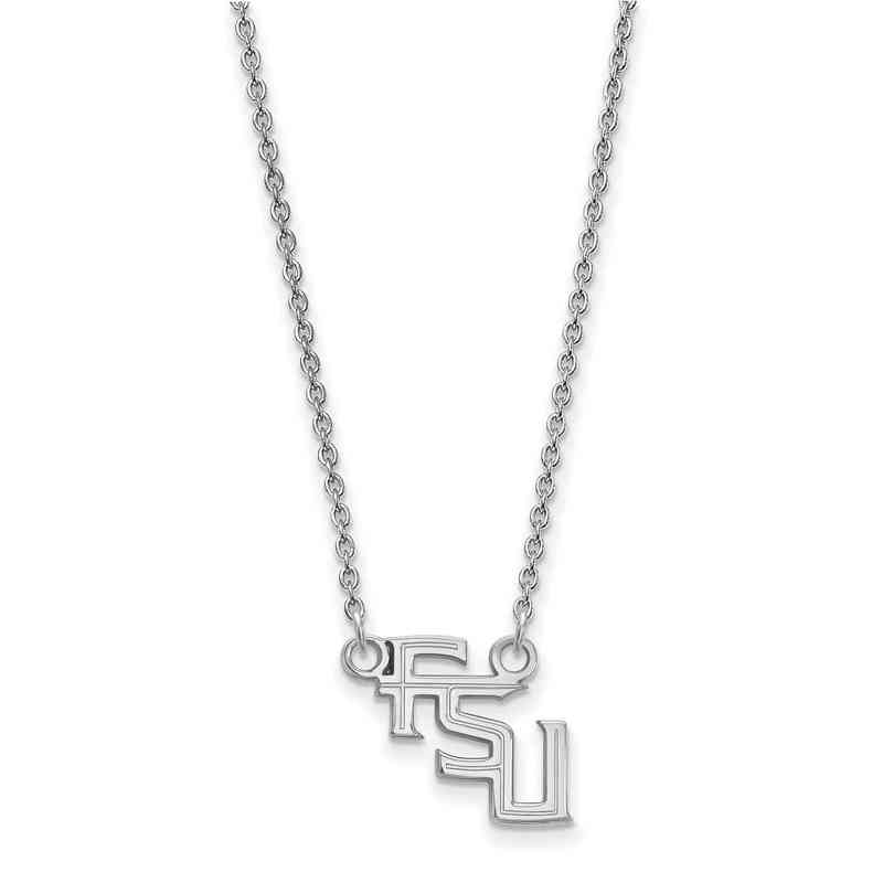Florida state university sterling silver necklace pendant necklaces ss066fsu 18 logoart florida state small neck white aloadofball Images
