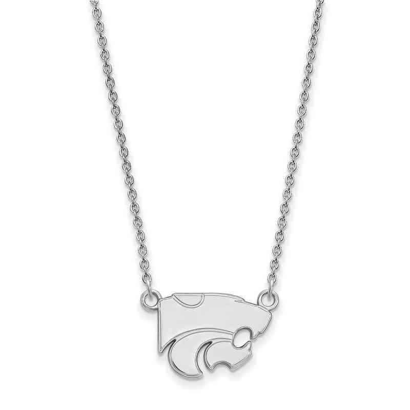 Kansas state university sterling silver necklace pendant necklaces ss015ksu 18 logoart kansas state small neck white aloadofball Images