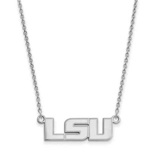 SS009LSU-18: LogoArt Louisiana State Small Neck - White
