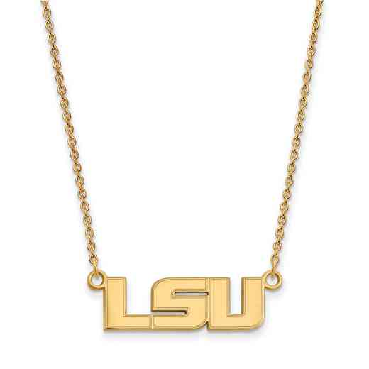 GP009LSU-18: YGFP LogoArt Louisiana State Small Neck - Yellow
