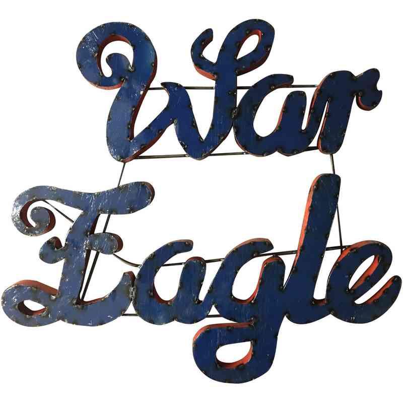 Auburn War Eagle Collegiate Metal Sign - Metal Signs - SALE