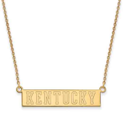 GP072UK-18: SS YGFP LogoArt Kentucky Small Neck - Yellow