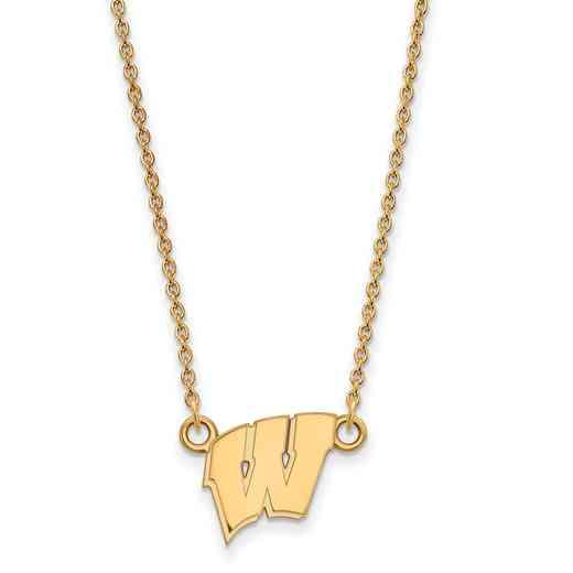 GP015UWI-18: SS YGFP LogoArt Wisconsin Small Neck - Yellow