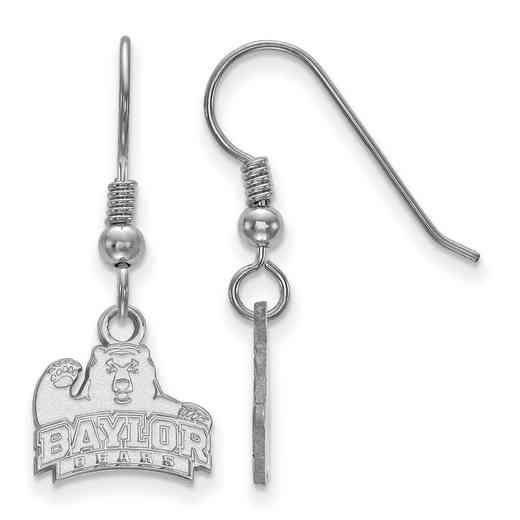 SS005BU: SS LogoArt Baylor XS Dangle Earrings - White