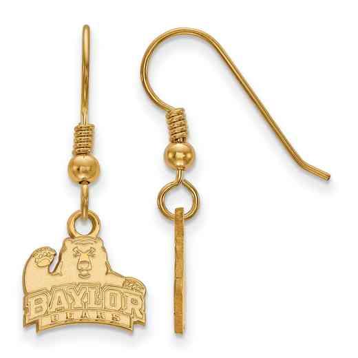 GP005BU: SS YGFP LogoArt Baylor XS Dangle Earrings - Yellow