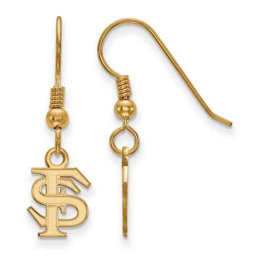 GP006FSU: SS YGFP LogoArt FL State XS Dangle Earrings - Yellow