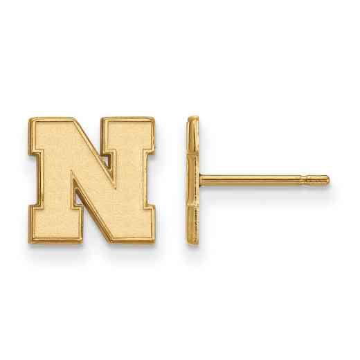 GP070UNE: 925 YGFP Nebraska XS Post Earrings
