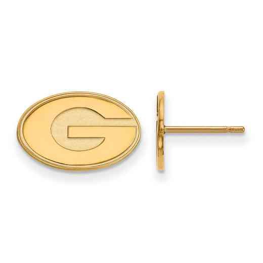 GP008UGA: 925 YGFP Georgia XS Post Earrings