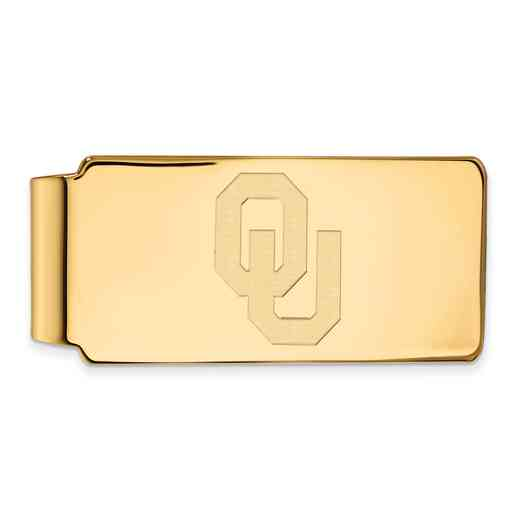 GP026UOK: 925 YGFP Oklahoma Money Clip