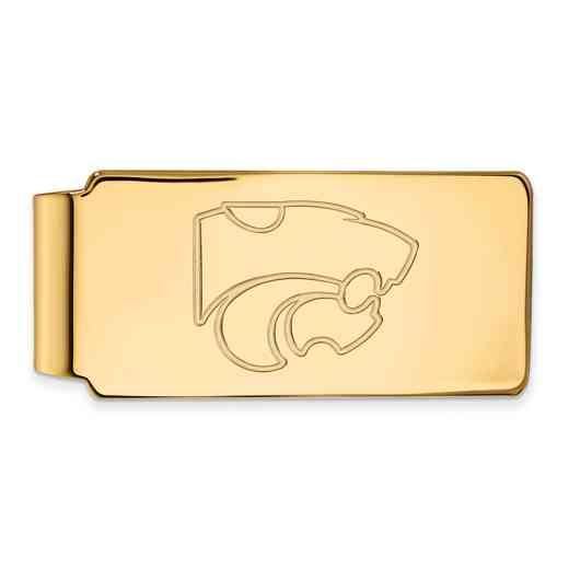 GP025KSU: 925 YGFP Kansas Money Clip