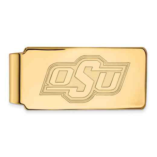 GP024OKS: 925 YGFP Oklahoma State Money Clip