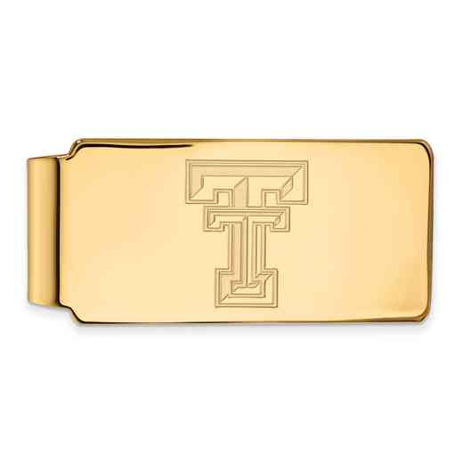 GP025TXT: 925 YGFP Texas Tech Money Clip
