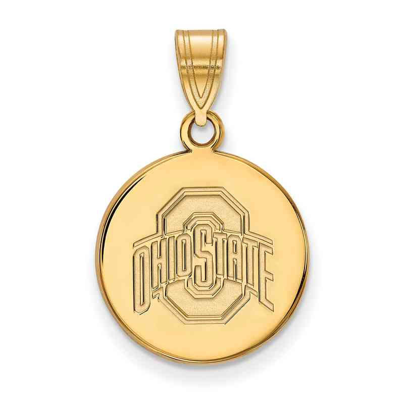 Ohio state university gold flash plated sterling silver disc pendant gp040osu 925 ygfp ohio state med disc pend aloadofball Image collections