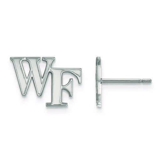 SS061WFU: 925 LogoArt Wake Forest University Post Earss