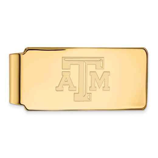GP019TAM: 925 YGFP Texas A&M Money Clip