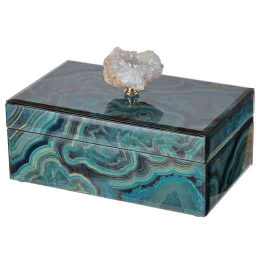 41386: Turquoise Marbled Box 8.5x5