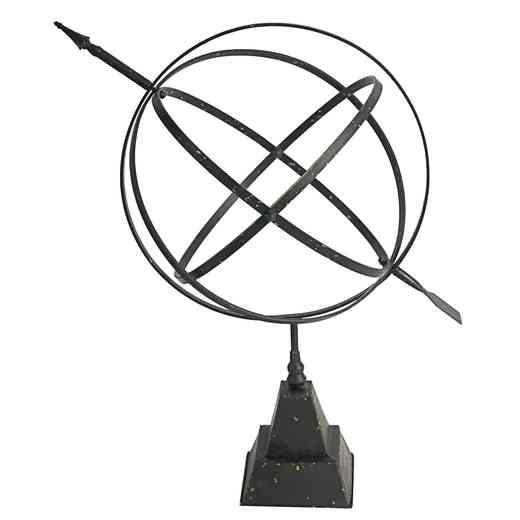 36028: Celestial Armillary Sphere Sculptural Accent